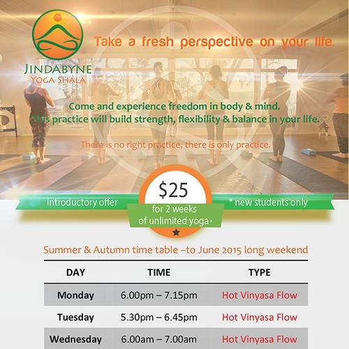 Brochure for yoga center
