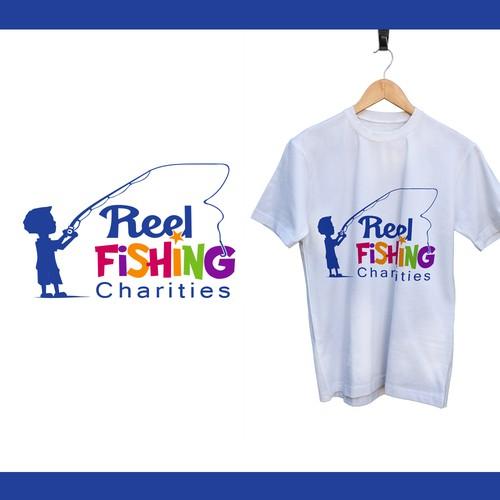 playful logo for Reel Fishing Charities