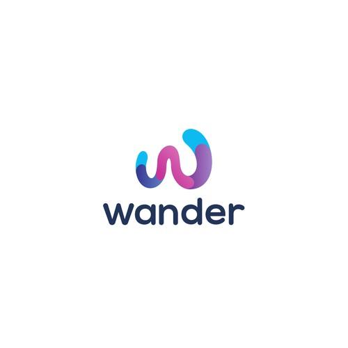 wander logo concept