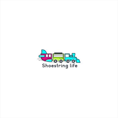 Playful travel logo