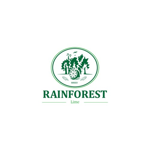 classic modern logo for rainforest lime