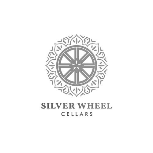 Silver Wheel Logo Design for a Boutique Winery