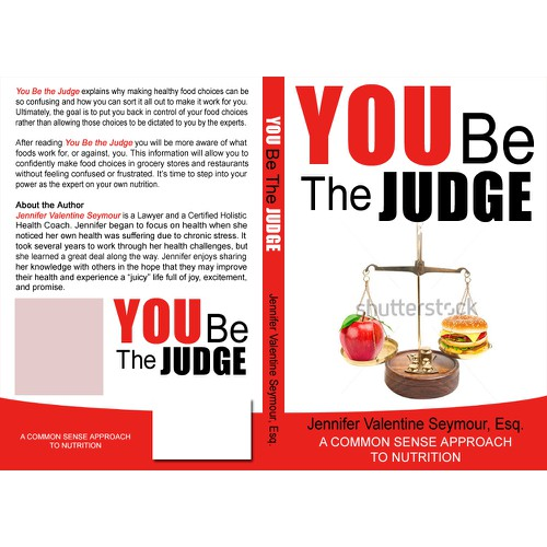 Create a cover for a nutrition book.
