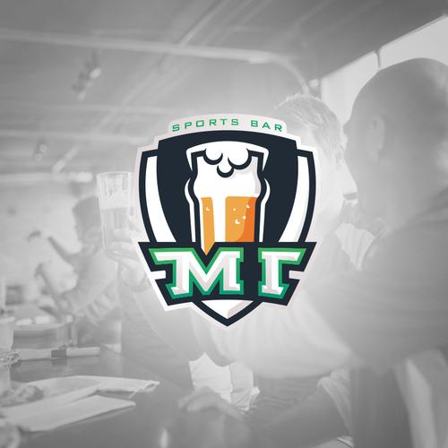 sports bar logo design