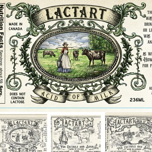 Vintage hand drawn label