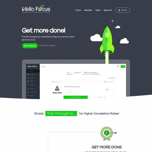 landing page design [ awarded contest ]