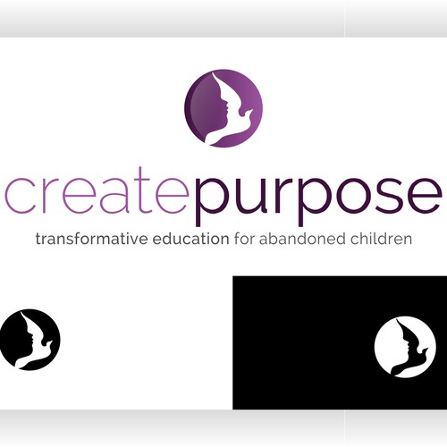 Beautiful logo to represent HOPE for abandoned children in orphanages