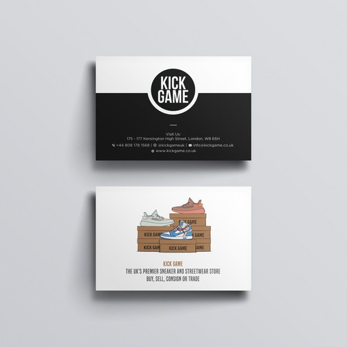 Unique Moo sized business card for Shoe company