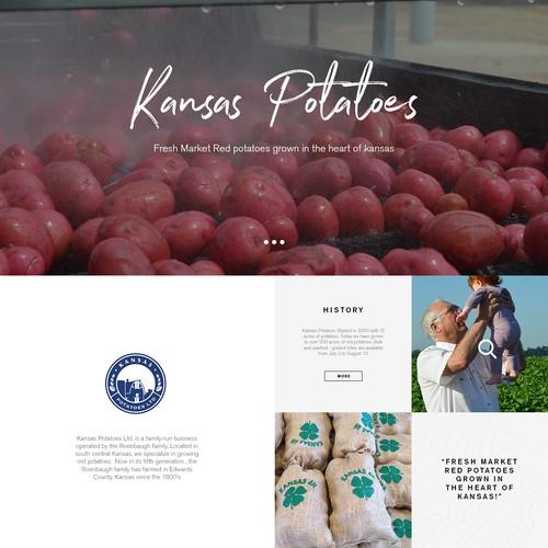 Design an appetizing website for Kansas Potatoes