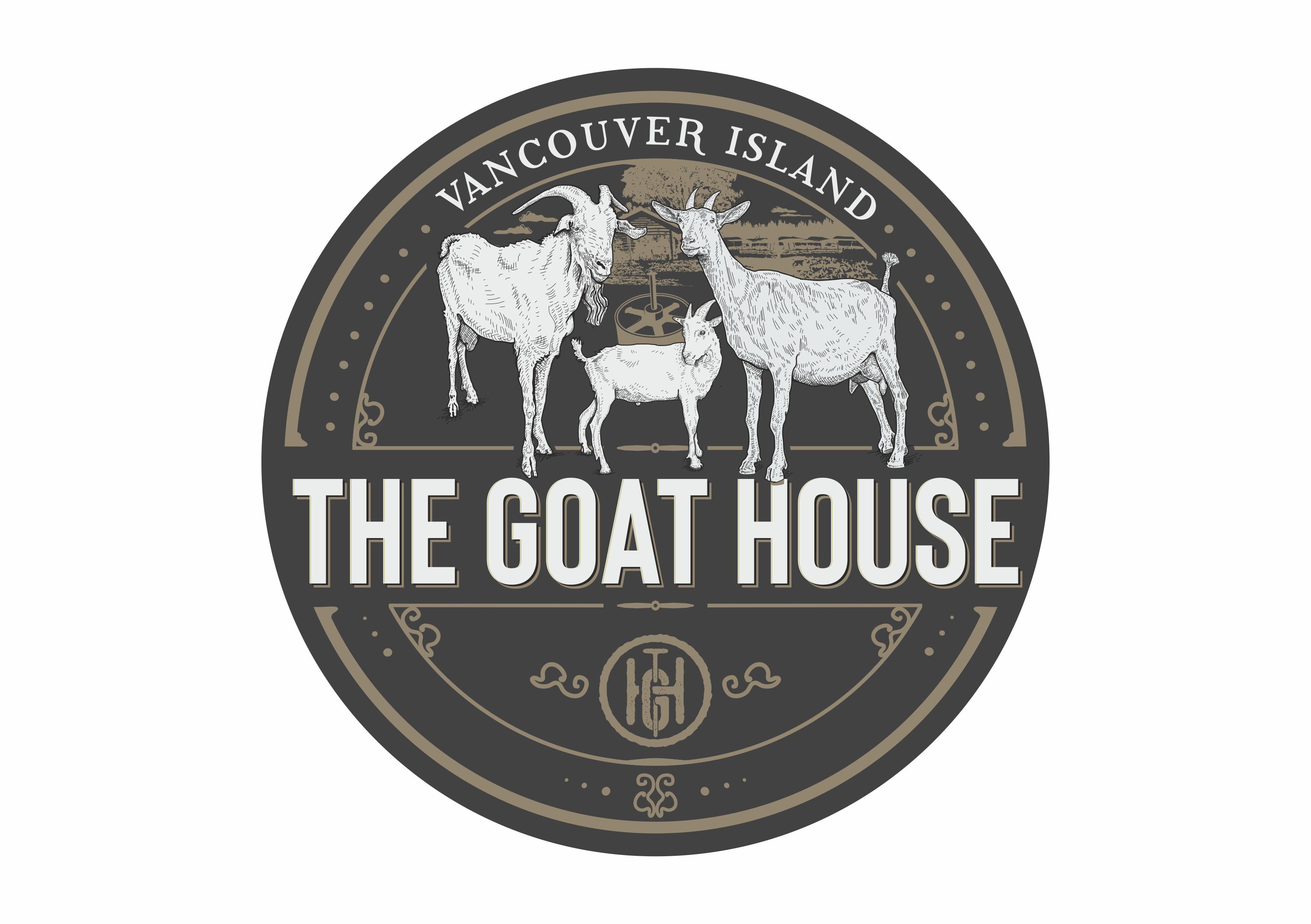 Design a rustic logo for a goat cheese farm!
