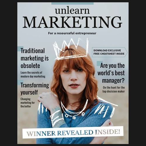 Magazine-Cover-Design for Unlearn Marketing