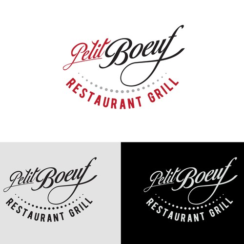Hand lettering logo for a restaurant grill