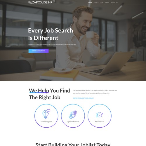 Web designer that understands clean design for innovative job search app website needed