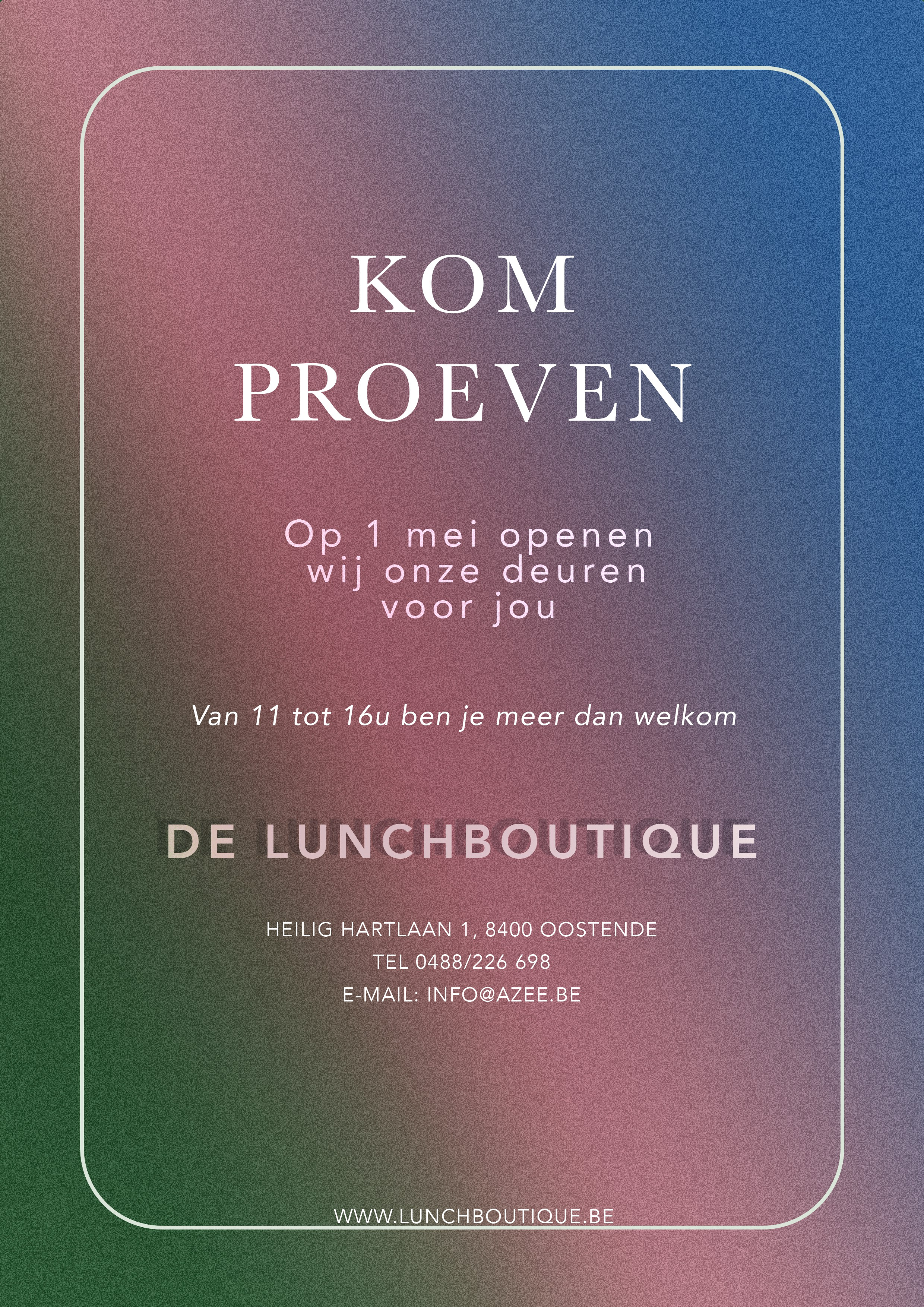 Delicious flyer for new restaurant in Ostende