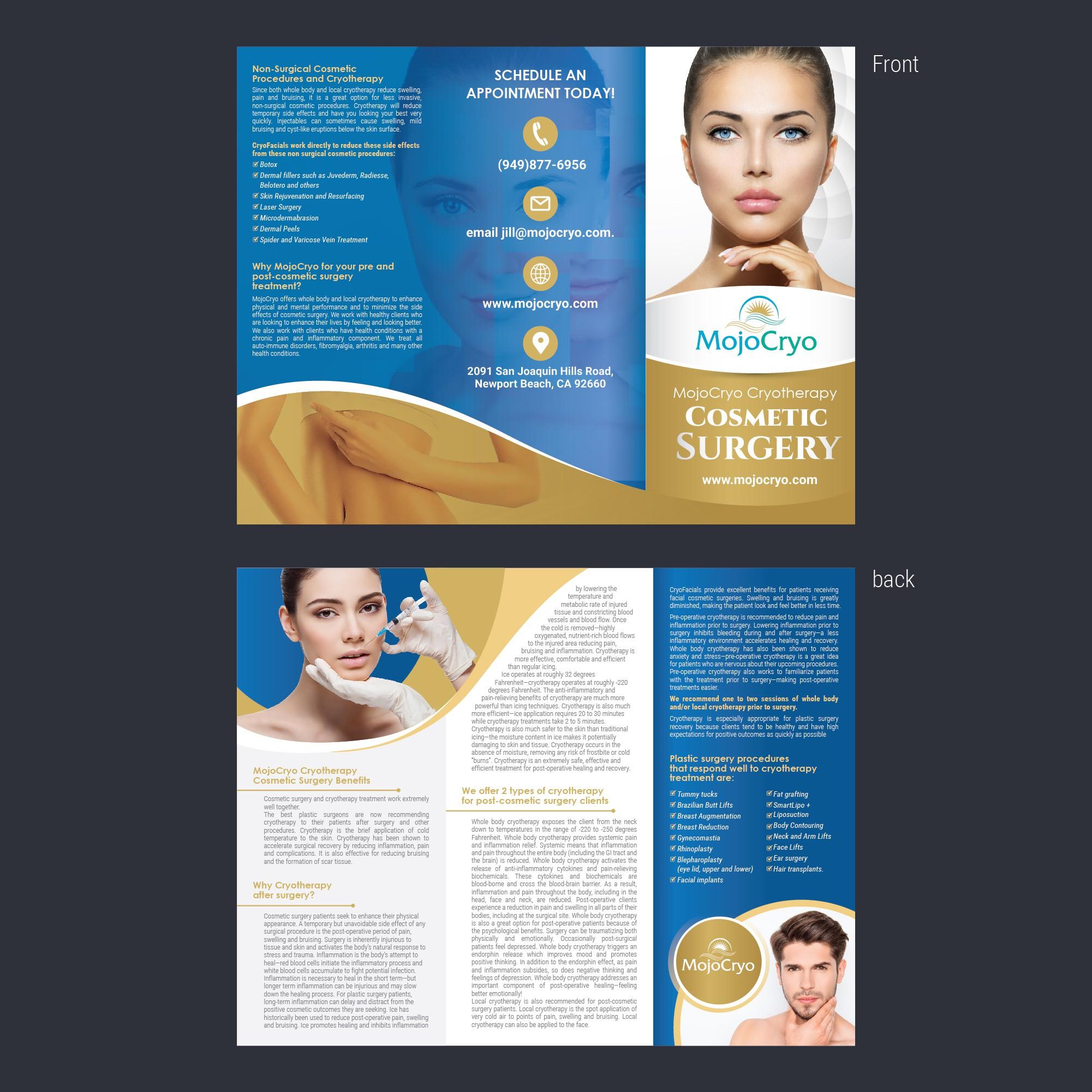 MojoCryo brochure or rack carc