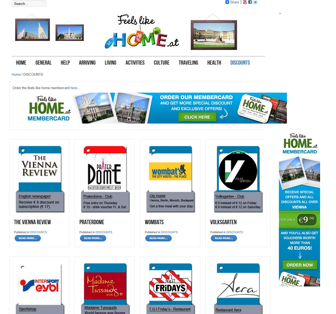 Create the next banner ad for Feelslikehome.at