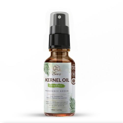 Kernel Oil Label design for Eva's.