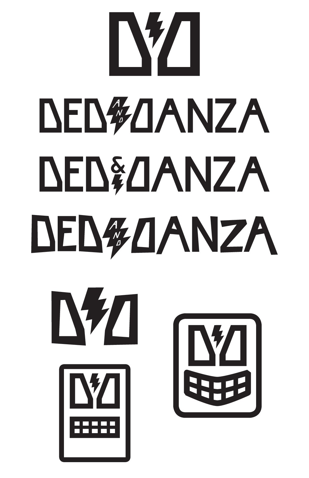 Design a simple, bold logo for a two-piece rock'n'roll band