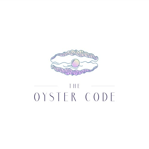oyster and pearl logo concept