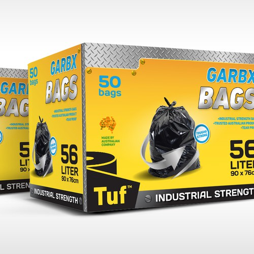Packaging Design - Box for Industrial Strength Bags
