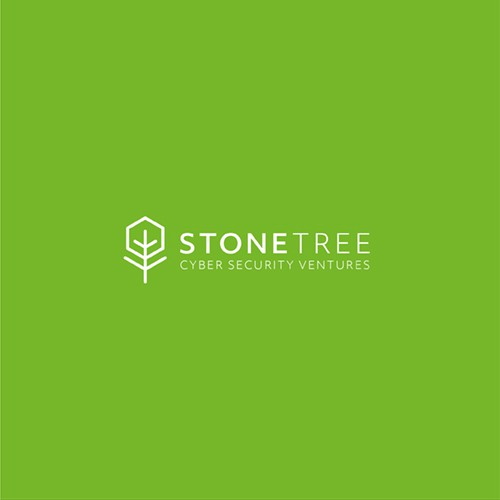Simple geometric tree design for IT company.