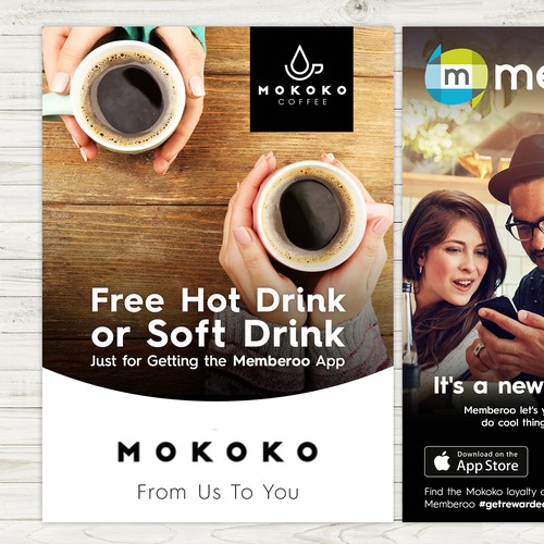 Design marketing collateral for an innovate loyalty app winner