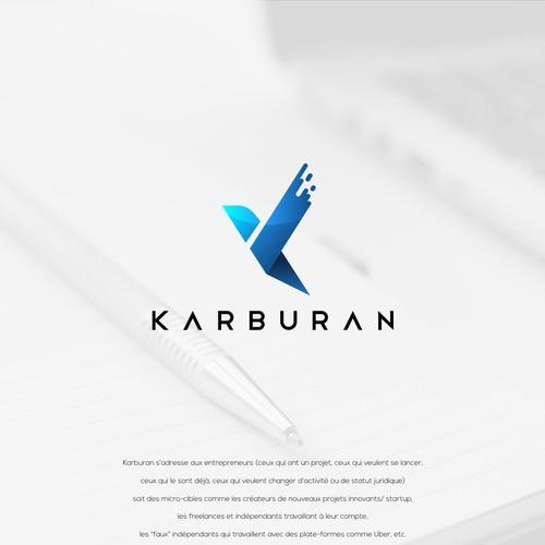 Letter K+Bird Concept Logo