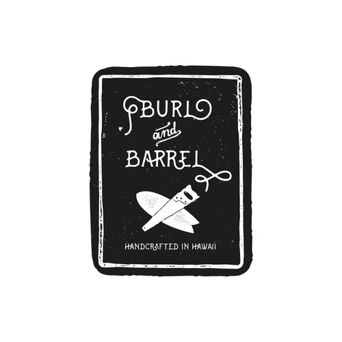 Burl and Barrel - logo for eclectic surf craft and woodwork