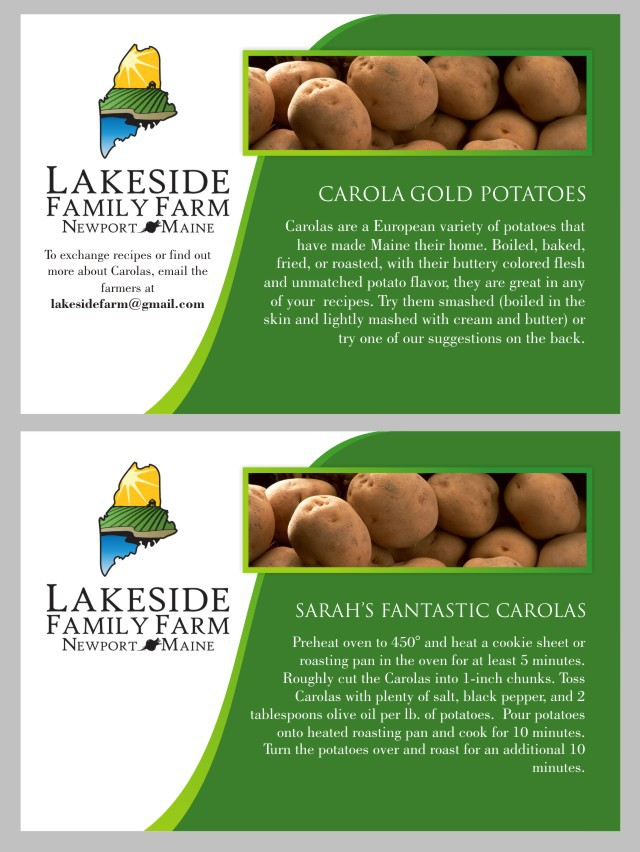 Create the next print or packaging design for Lakeside Family Farm