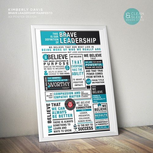 Poster Design for Brave Leadership