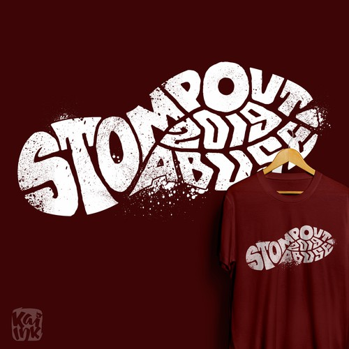 T-shirt design for Stomp out abuse