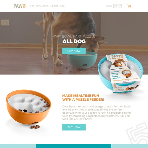 Ecommerce Pet Homapage Design