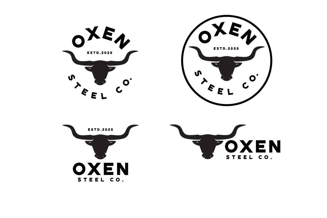 Custom Oxen Themed Abstract Logo for Steel Company