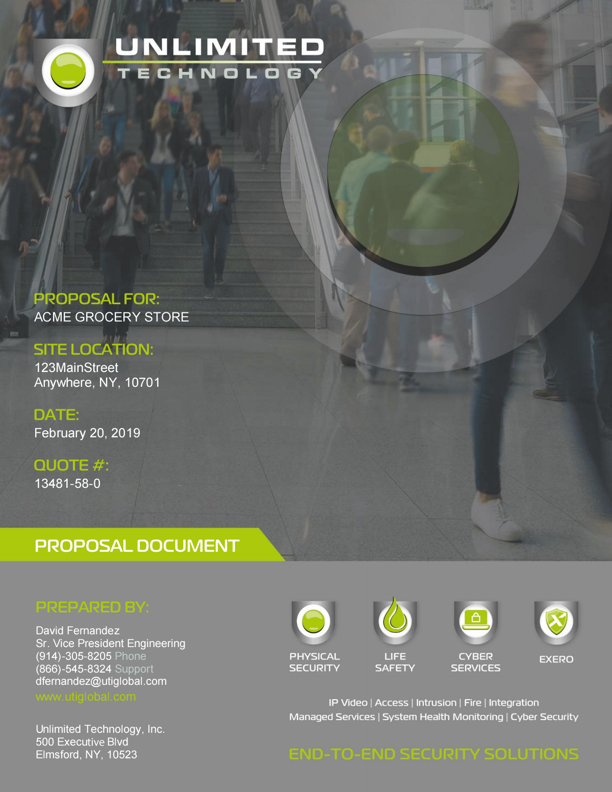 New Proposal Cover Page