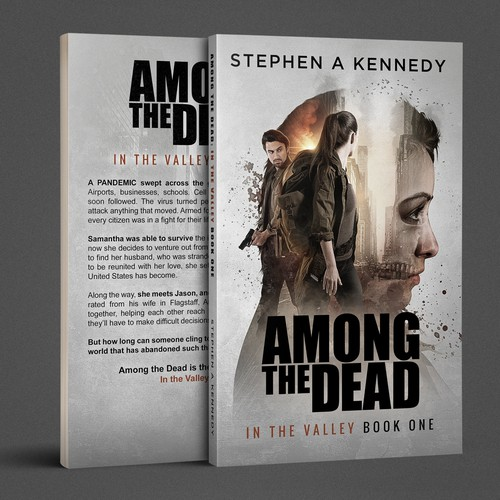 """Among the Dead"" Book Cover Design"