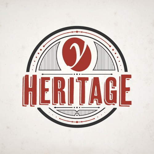 A Badge type logo of Y Heritage