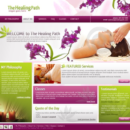 One page uncoded for massage therapy and energy kinesiology