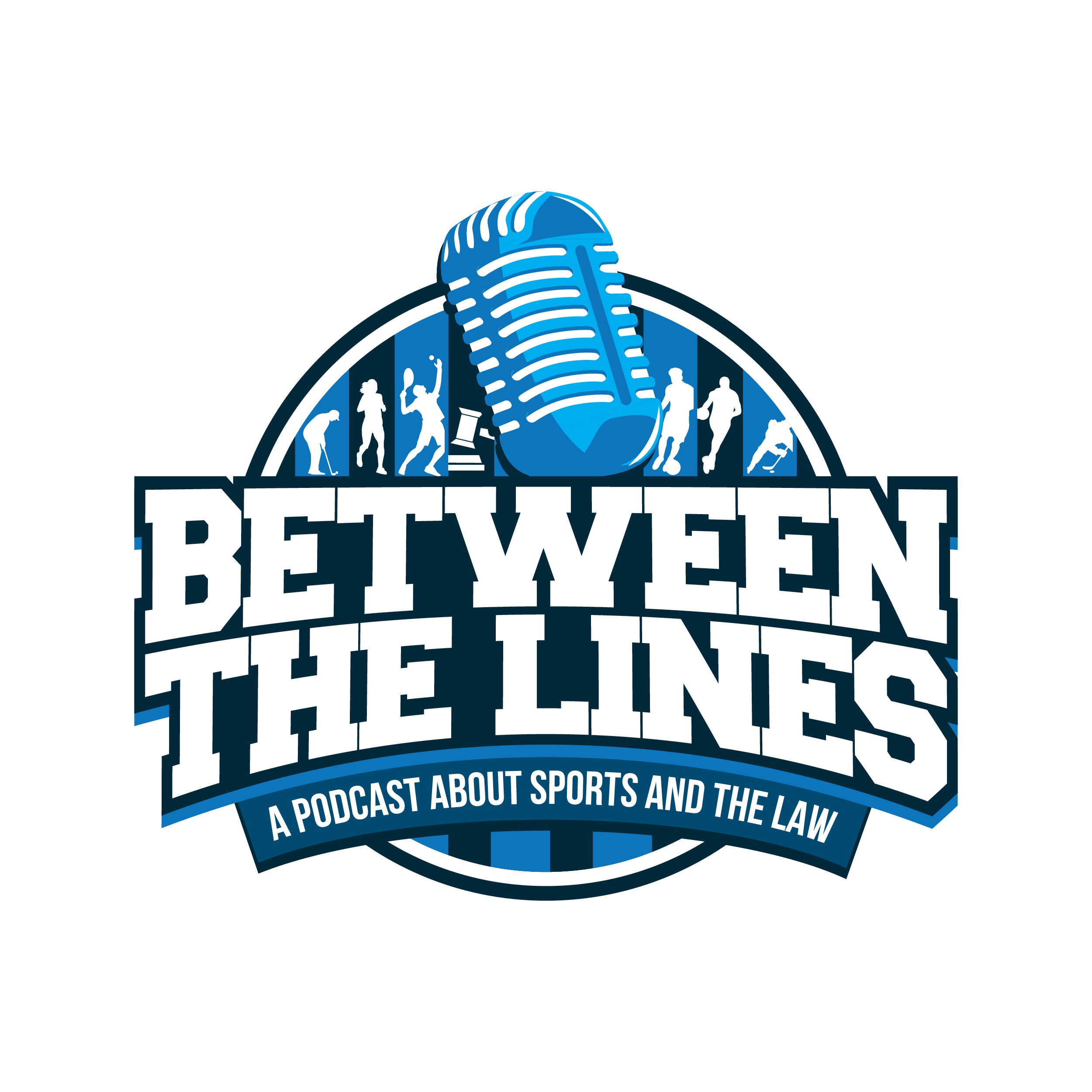 Design a logo for a popular new podcast about sports and the law