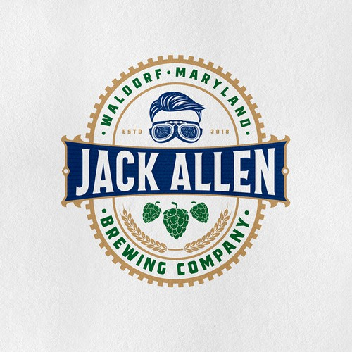 Bold logo concept for a brewery