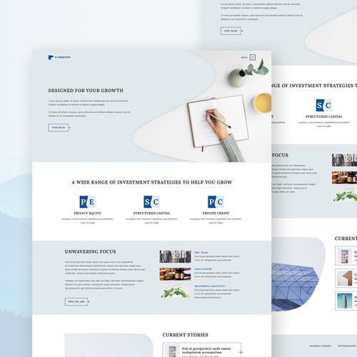 P-creativo: Creative web agency UI Design