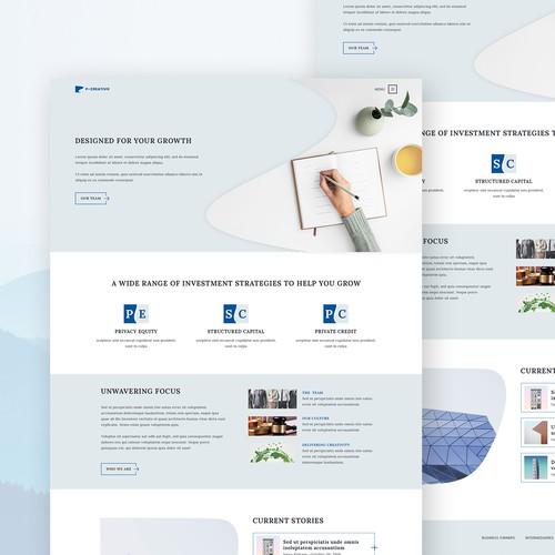 P-creativo: Creative web agency UI Design
