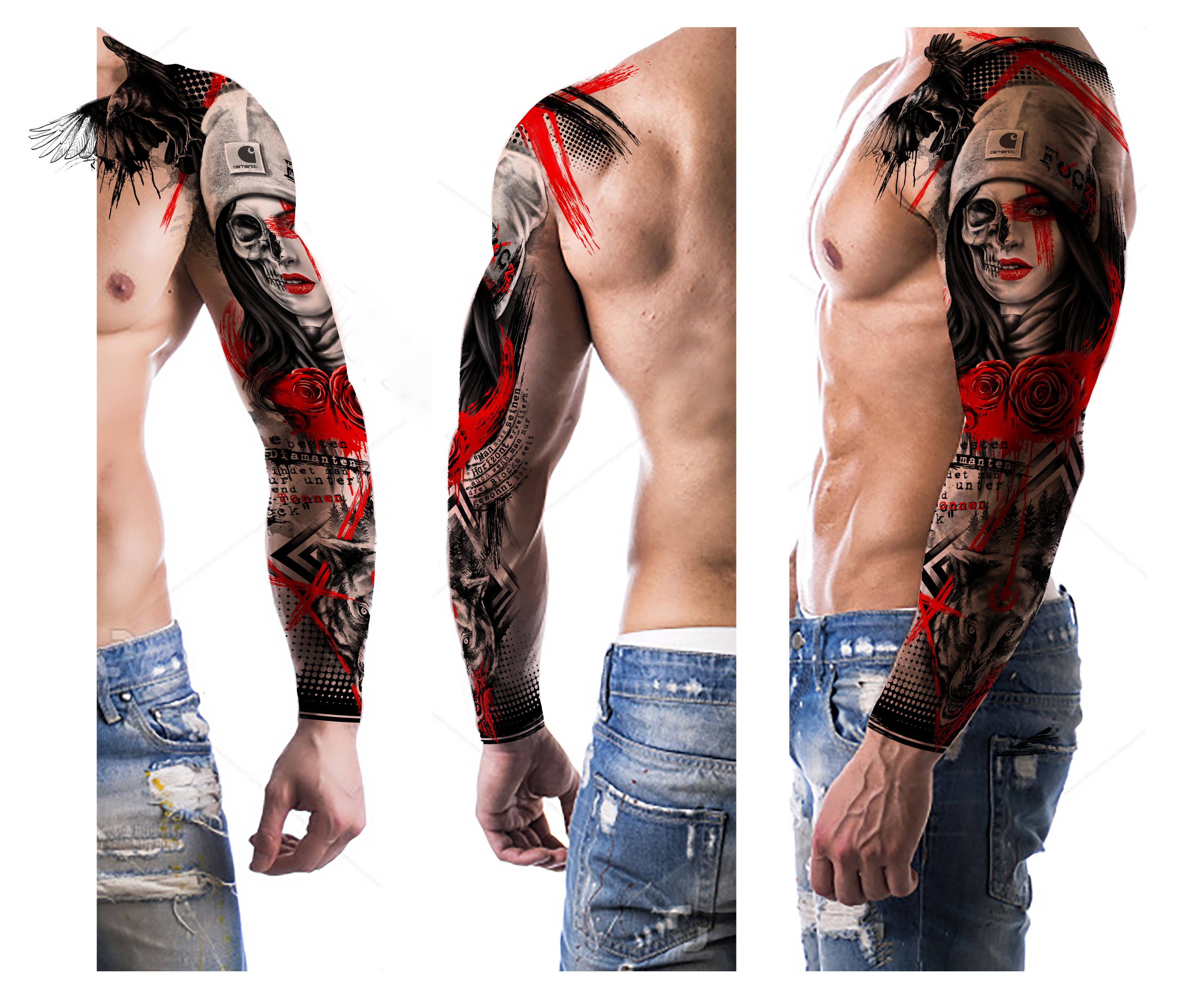 Trash Polka Tattoo, be creativ and crazy as you can!