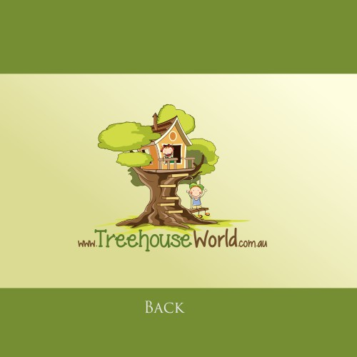 Create an eye catching logo that captures the wonder of a childs treehouse