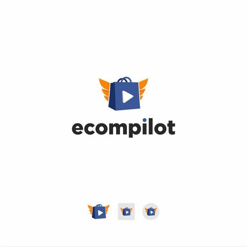 eCompilot logo design