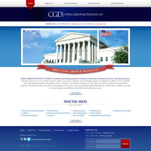 Help Cifra, Gibson & Dougan, LLP with a new website design