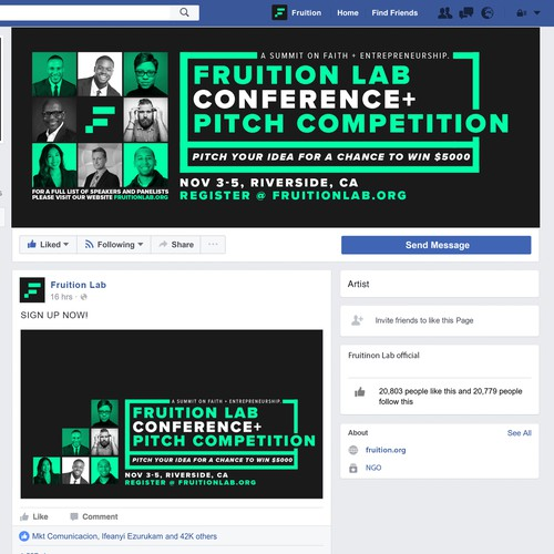 Fruition Lab Facebook Page