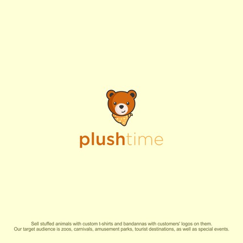 plushtime animal pet logo