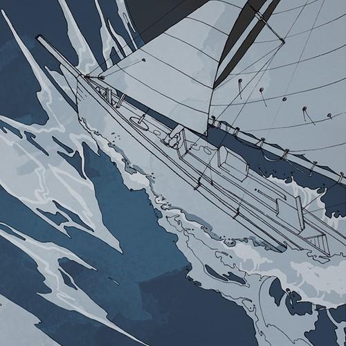 """Illustration for  Scott Karick's novel """"Perdition's Reprieve"""""""