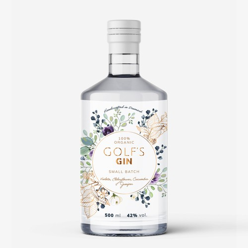 Handcrafted Gin Label