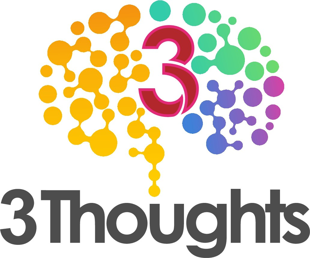 "Design logo for ""3 Thoughts"", an app that will help people have healthier thoughts"